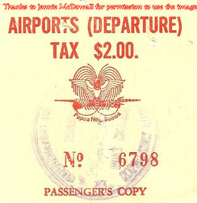 $2.00 Departure Tax Stamp