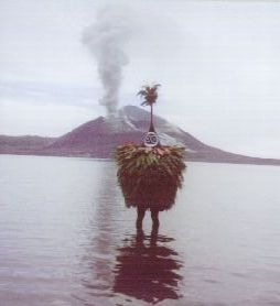 Tubuan and Tavurvur volcano at Rabaul