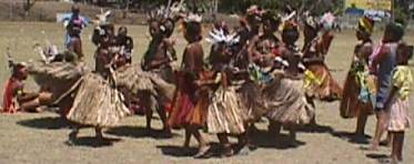 A group of children waiting to dance