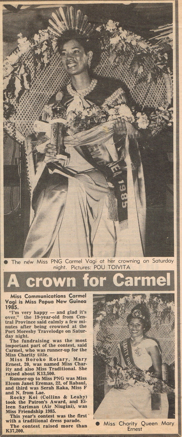 Miss PNG 1985