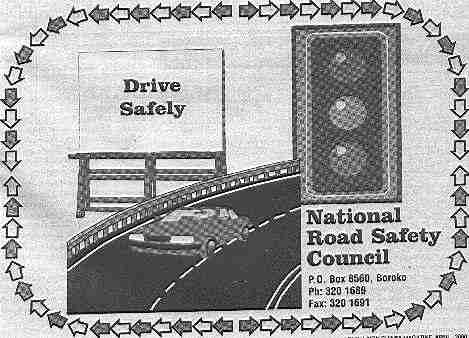 An advert for Road Safety